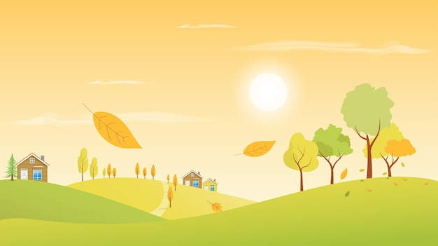 Autumn landscape scenery season