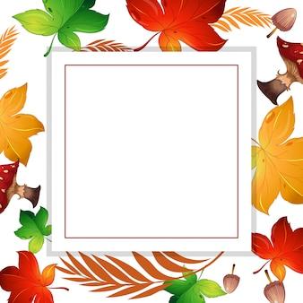 Осенний лист и грибная рамка