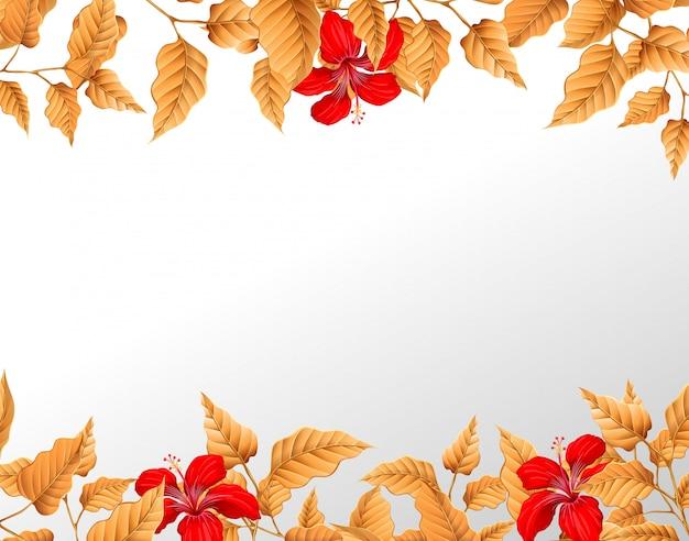 A autumn leaf border