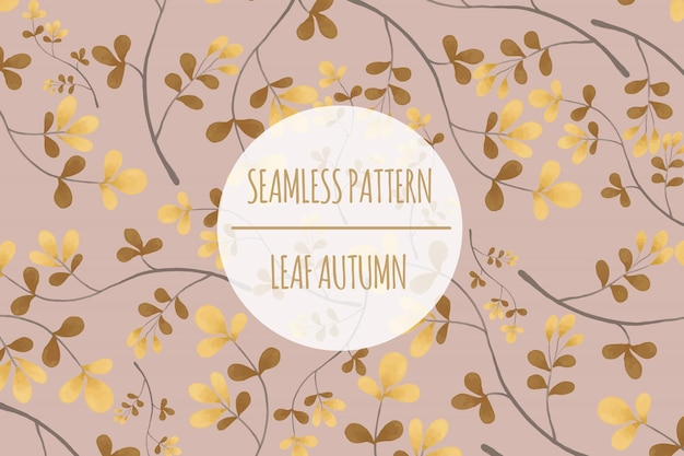 Autumn leaf seamless pattern premium