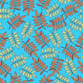 Autumn leaf seamless pattern vector illustration
