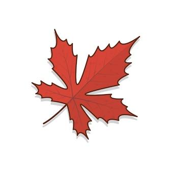 Autumn leaf vector icon illustration. autumn leaves or fall foliage flat icon