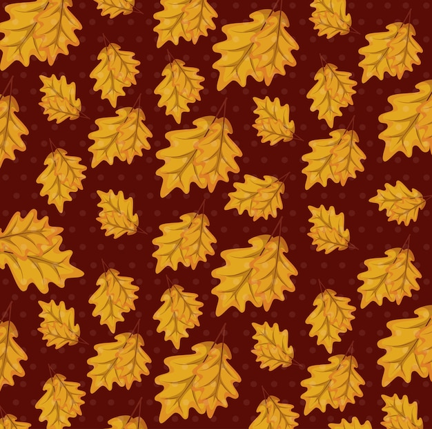 Autumn leafs pattern background