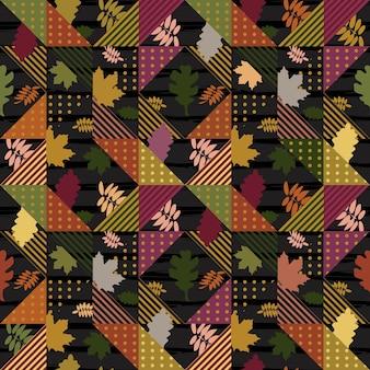 秋は抽象幾何学的パターンを残す