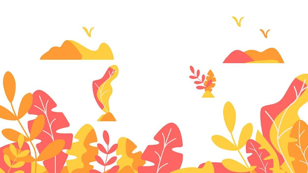 Autumn leaves background template