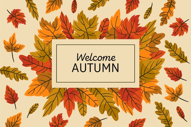 Autumn leaves background theme