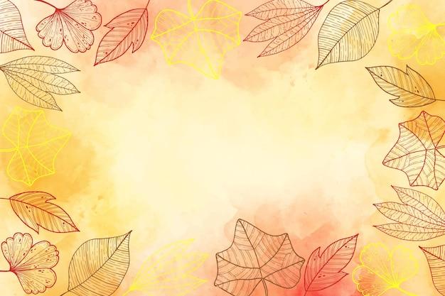 Осенние листья фон