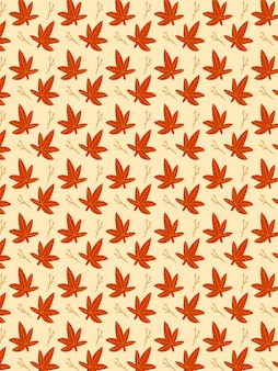 Autumn leaves branch pattern