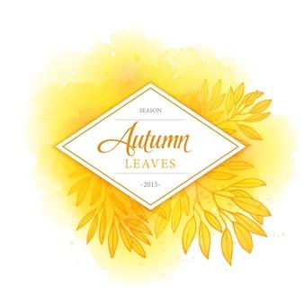 Biglietto con foglie d'autunno