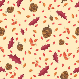 Autumn Leaves concept Seamless Pattern.