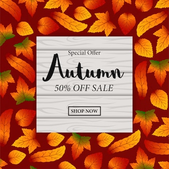 Autumn leaves fall template sale offer
