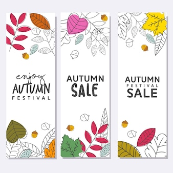 Autumn Leaves for Festival Sale Poster