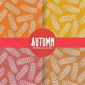 Autumn leaves paper cut style background pattern
