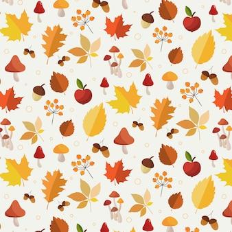 Autumn leaves pattern