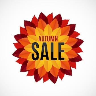 Осенние листья продажа фон векторные иллюстрации eps10