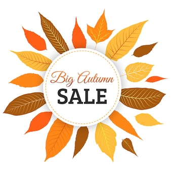 Осенние листья продажи вектор