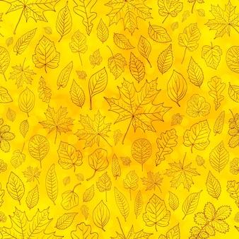 Осенние листья бесшовный фон фон вектор