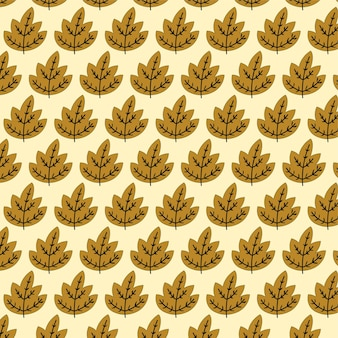 Autumn leaves seamless pattern design background