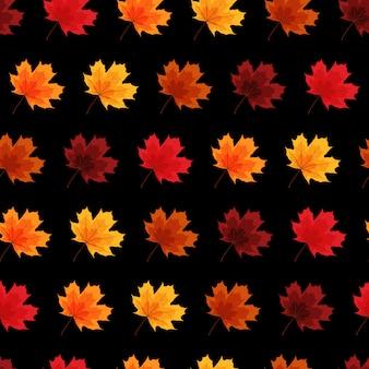 紅葉のシームレスなパターン図