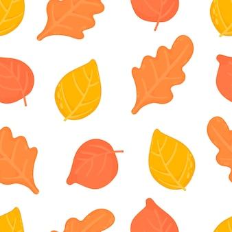 가 잎 완벽 한 패턴입니다. 공장 벡터 배경입니다.