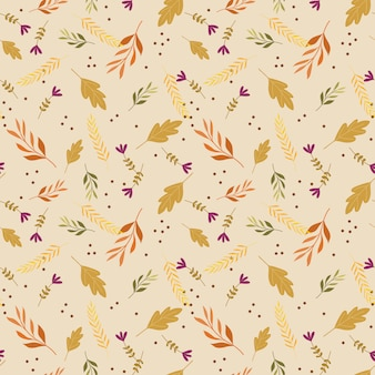 Autumn leaves seamless pattern vector.