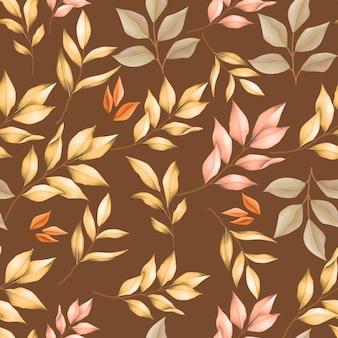 Осенние листья бесшовный фон