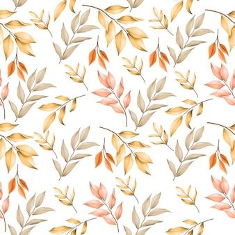 Autumn leaves seamless pattern Premium Vector
