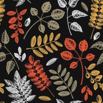 秋の葉のシームレスなパターン