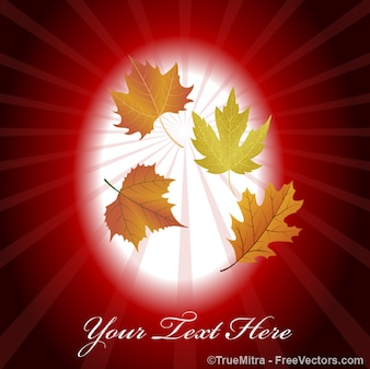 Autumn leaves vintage background vector