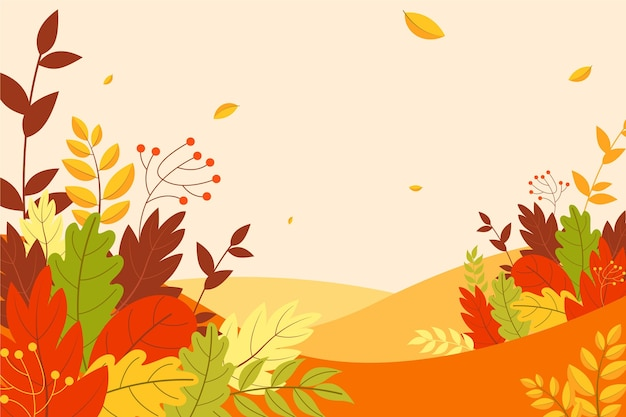 Autumn leaves wallpaper theme