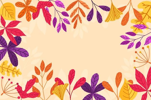 Carta da parati foglie d'autunno