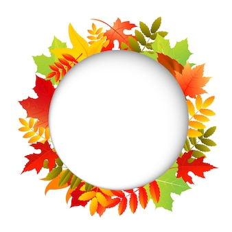 Осенние листья с речевым пузырем