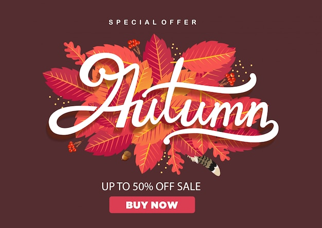 Autumn leaves with up to 50% off sale