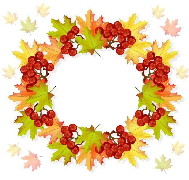 秋の花輪の装飾