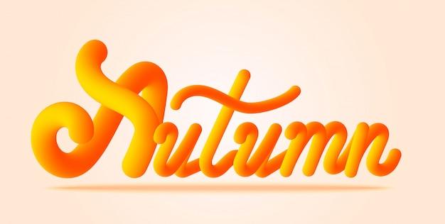 Autumn lettering text