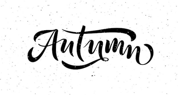 Осенние надписи типографии современная осенняя каллиграфия векторные иллюстрации на текстурированном фоне