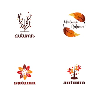 Autumn logo collection