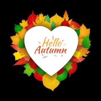 Autumn love template