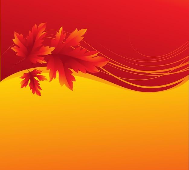 秋のカエデの葉の背景。ベクターイラストeps10