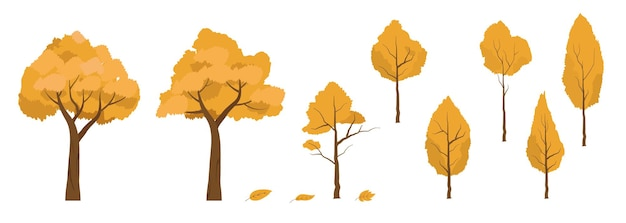 Autumn maple leaves element