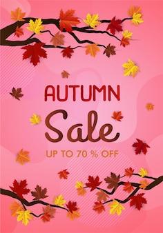 Autumn maple sale banner
