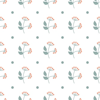 화이트에가 최소한의 패턴입니다. 빨간 열매와 지점입니다. 원활한 패턴