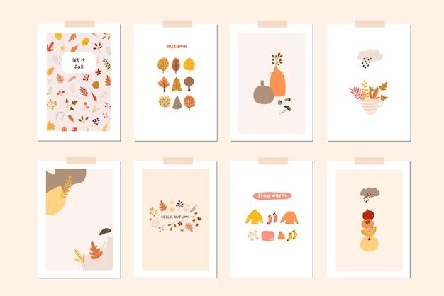Autumn mood card or wall art ready to print