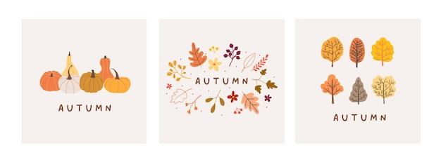 Autumn mood greeting card