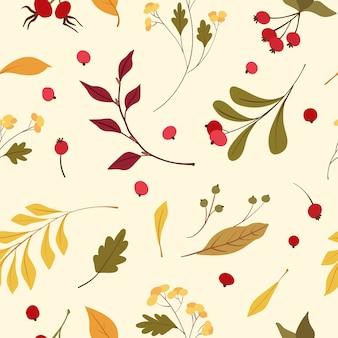 秋の気分のシームレスパターン