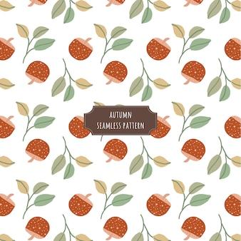 가 버섯과 잎 원활한 패턴