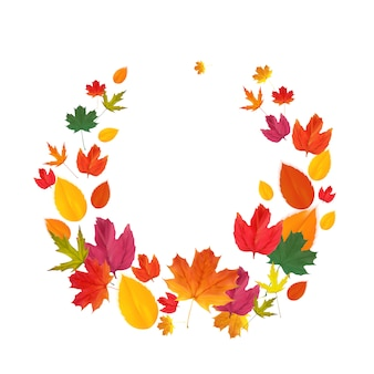 Autumn natural leaves background