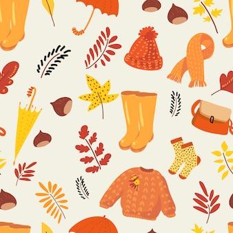 Autumn natural seamless pattern