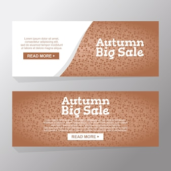 Autumn nature big sale and advertising discount