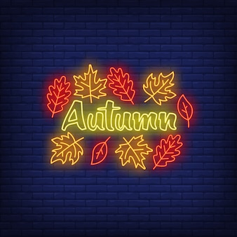 Autumn neon sign